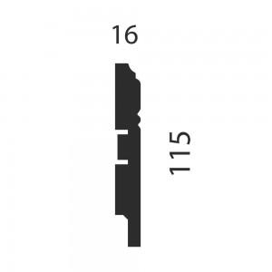 Плинтус AP17 под покраску